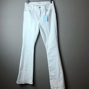 Frame denim le high flare white jeans NWT 30